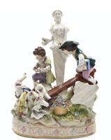 "19th Century Antique Porcelain ""Children in Ruins"" Figurine"