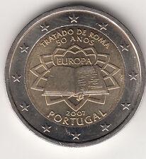 2 EURO 2007 PORTOGALLO TRATTATI DI  ROMA FIOR DI CONIO