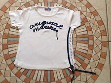 Original Marines ❤️ Kinder Kurzarm Shirt, T-Shirt Weiss Gr. 8 A