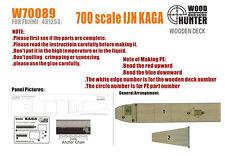 Hunter 1/700 W70089 cubierta de madera IJN Kaga para Fujimi