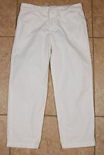 J Brand Parker 100% Cotton Low Rise Cropped Chino Twill Trouser White Size 24