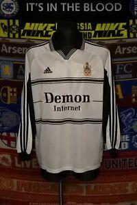 4.5/5 Fulham adults XL/XXL 1999 home long sleeve football shirt jersey soccer