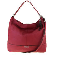 Auth Coach F23293 2WAY Leather Shoulder Bag Red 09GA390