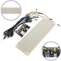 MB-102 830 Point Solderless Breadboard PCB+Power Supply+65pcs Jump Cable Wire MT