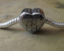 Edelstahl Bead Element Herz Honey Antiksilber Silber für Armband 1440