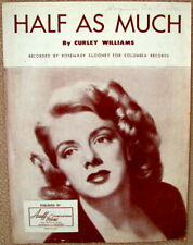 Half As Much - Sheet Music - Copyright 1951