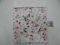 Baby Blanket White Poppy Bassinet Pram Crib 80cm x 60cm Minkee Dot Back