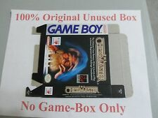 The Chessmaster 100% Original Unused Box Only, Gameboy, Rare