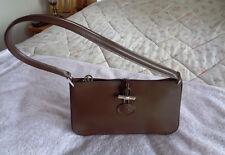 NEW $785 Longchamp Paris Womens W Purse Handbag Bag Dark Brown / Silver L@@K !