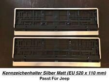 2x Top Kennzeichenhalter Silber Matt Chrom Optik Gebürstet Made in EU (29
