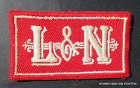 "L & N RAILROAD EMBROIDERED SEW ON ONLY PATCH LOUISVILLE NASHVILLE 3"" x 1 1/2"""