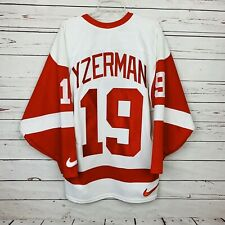 New Nike Men's Med STEVE YZERMAN DETROIT RED WINGS AUTHENTIC JERSEY Stitched