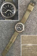 Vintage 1984 Stocker & Yale (Sandy 184) Mens H3 Olive Drab Windup Military Watch