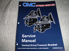 1995-96 OMC VOLVO STERN DRIVE VERTICAL TRANSOM BRK INBOARD OUTBOARD MANUAL NEW