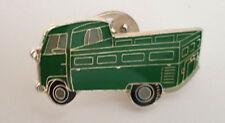 """VW Bus T1 Pritsche """"grün"""" Heck-und Seitenansicht Ansteckpin"""
