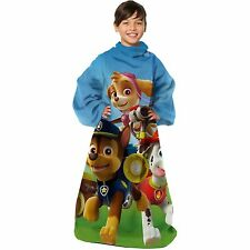 New Paw Patrol Squat Comfortable Kids Snuggy Blanket with Sleeves 48'' x 48''