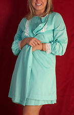 Gossard Artemis Two-Piece Aqua Nightgown/Robe; Peignoir Set, negligee