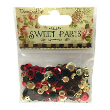 Dovecraft Sweet Paris Sequins for cards and crafts