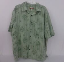 Havana Jack's Cafe Hawaiian Camp Shirt XXL Men's Green Palm Trees With tags