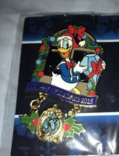 Exclusive Club 33 Happy Holidays 2015 Donald Duck Pin Disneyland LE 1500 NIP