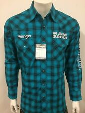 NWT Wrangler Dodge RAM Logo Rodeo Western Embroidered Long Sleeve.(L) Shirt.