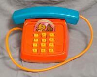 Vintage Mattel Touch Tone Toy Phone 1970's g50