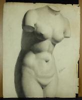 Théophile Tailhandier Drawing Sculpture Art Greco-Roman Parts Naked Woman c1900