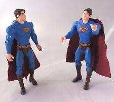 Vintage J2082 DC Comics Superman Heroes Action Figures Toys Lot of 2