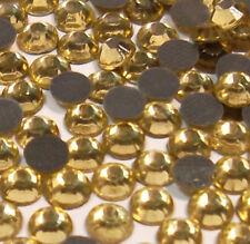 2880 Hotfix Strasssteine 4mm GELB GOLD GLAS STRASS Bügelsteine BEST 457