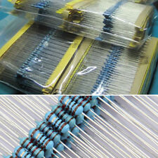 1280pcs Metal Film Resistors Assortment Kit Set 64 Values (1-10M ohm) 1/4W NEW