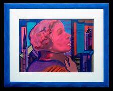 Carlo Massimo Franchi, Gae Aulenti, tecnica mista su plexiglass opalino,37x50 cm