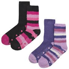 Ladies Womens Gripper Socks Multibuy Stripe Colourful Cosy Lounge Warm Hosiery