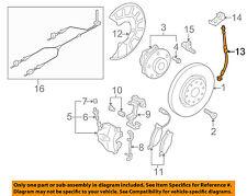 VW VOLKSWAGEN OEM 09-16 CC Front Brake-Flex Hose 3AA611701A