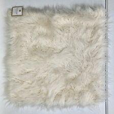 "NEW Pottery Barn TEEN Faux Fur Mongolian Euro 26"" Pillow Cover~White"