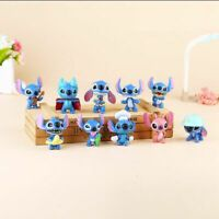 Lilo And Stitch Anime 10 PCS Action Figure Kids Toy Xmas Gift Cake Topper Decor