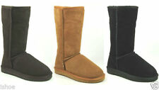 Suede Pull On Slim Heel Boots for Women