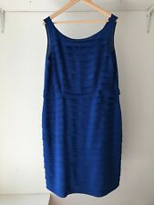Studibaker Hawk Royal Blue Autumn Stretch Tiered Cobolt Dress,Size 18 / BNWT