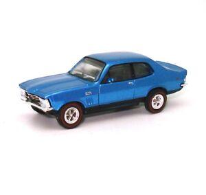 1:87 1972 XY LJ GTR X-U1 CYAN BLUE DIECAST IN ACRYLIC DISPLAY CASE!