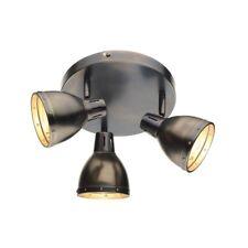 3 Light Ceiling Spotlight Antique Chrome