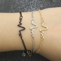 1pcs Women Medical Heartbeat ECG Bracelets Pulseras Hombre Mujer Bracelet