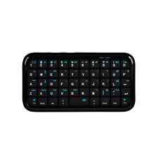Mini Wireless Bluetooth Keyboard Pad Backlit Qwerty Remote for PC/Mobile