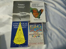 FOUR (4) ASTROLOGY books and personality