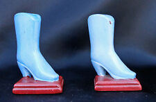 Decorative Blue Fashion Boots High Heel Salt & Pepper Shaker Vtg Free Usa Ship
