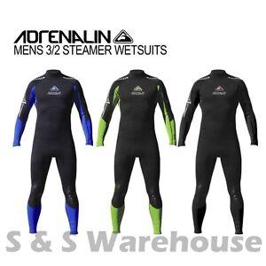 New Adrenalin Mens Steamer Wetsuit Long Sleeve/Leg 3mm/2mm Neoprene Wet Suit
