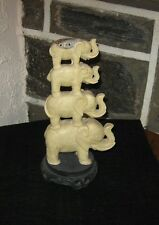 Elephant figurine Stacked 4 high on stand very cool item