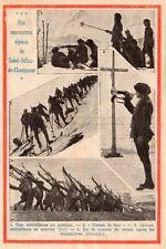 05 SAINT JULIEN EN CHAMPSAUR CHASSEURS ALPINS MITRAILLEUSE IMAGE 1936 OLD PRINT