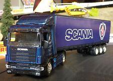LKW Scania R124 + CONTAINER in 1:43 Slotcar-DEKORATION für Carrera         15513