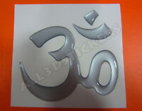 Pegatina Simbolo OM 3D Relieve - Color Plata