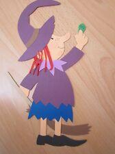 Fensterbild Tonkarton:Hexe mit Spinne