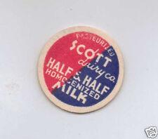 MILK BOTTLE CAP. SCOTT DAIRY CO. MAVERICK.